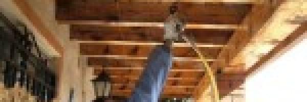 Tratamiento para evitar la degradación de la madera de uso estructural